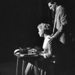 "Hal with Judy Holliday in Broadway's ""Bells Are Ringing"""